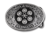 Smith & Wesson Pewter Scrolled Belt Buckle!