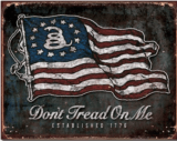 Don't Tread On Me - Vintage Flag Tin Sign Free S/H