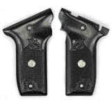 S&W 22 Victory Silver Black Silver Medallion Grips