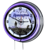 "Remington 18"" 870 Blue Double Neon Clock"