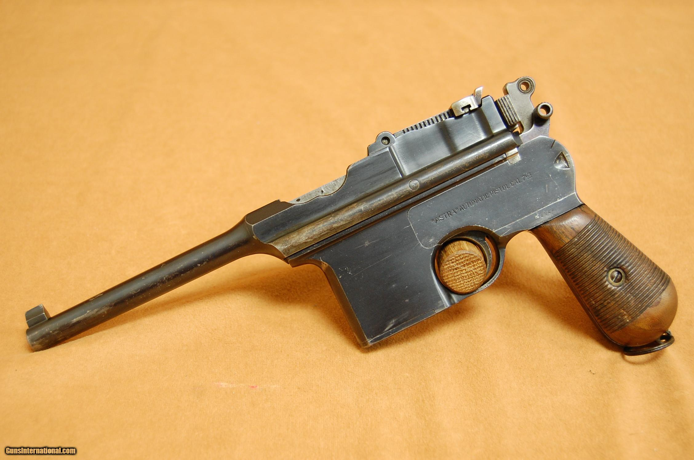 Priced in Auctions : Astra Model 600 Pistol - Ser # 16505 ...
