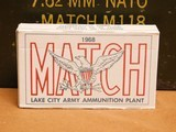 Lake City MATCH M118 .308 Win (400 Rounds)