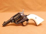 Colt SAA Sheriff's Model (.44 Spl w/ Ivory Grips) w/ Factory Box, Extra .44-40 Cylinder, Wood Grips