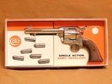 Colt SAA 2nd Gen Nickel w/ Stagecoach Box (1970)