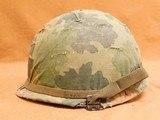 Original US Infantry Vietnam War Issue M1 Helmet - 3 of 8