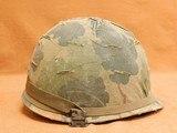 Original US Infantry Vietnam War Issue M1 Helmet - 1 of 8