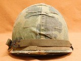 Original US Infantry Vietnam War Issue M1 Helmet - 5 of 8