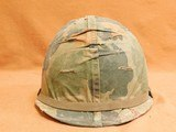 Original US Infantry Vietnam War Issue M1 Helmet - 2 of 8