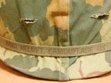 US Vietnam-Era M1C Paratrooper Helmet & Liner - 2 of 8