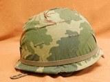 US Vietnam-Era M1C Paratrooper Helmet & Liner - 3 of 8