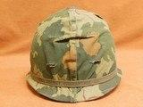 US Vietnam-Era M1C Paratrooper Helmet & Liner - 1 of 8