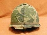 US Vietnam-Era M1C Paratrooper Helmet & Liner - 4 of 8