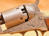 Colt 1849 Pocket (Gustav Young Engraved, 5-inch, w/ Case, Extras) - 7 of 25