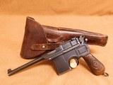 Mauser C96 Broomhandle Red Nine w/ Nazi German Navy/Kriegsmarine Holster