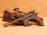 Mauser C96 Red Nine Broomhandle w/ Stock, 1916 Harness (German Nazi)