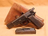 FN/Browning Hi-Power Rig (Holster, 2 Mags, Late War, 1944) Nazi German WW2