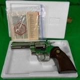 Colt Python 4 inch Nickel in 357 magnum made in 1979