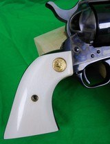 Colt Single Action Army 3rd Generation in 45 Long Colt with 4 3/4 inch barrel - blued - Ivory Grips - LIKE NEW! - 6 of 17