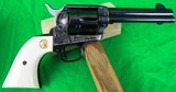 Colt Single Action Army 3rd Generation in 45 Long Colt with 4 3/4 inch barrel - blued - Ivory Grips - LIKE NEW! - 5 of 17