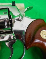 Colt Python 4 inch Nickel in 357 magnum made in 1979 - 2 of 13