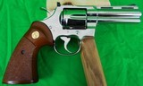 Colt Python 4 inch Nickel in 357 magnum made in 1979 - 4 of 13