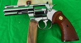 Colt Python 4 inch Nickel in 357 magnum made in 1979 - 1 of 13