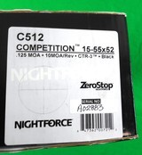 Nightforce Competition 15-55x52 - Like new C512 - 3 of 7