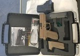 Sig Sauer SP 2022 in FDE..15 shot 9mm..with Holster, extra Mag & Grips.. - 6 of 8