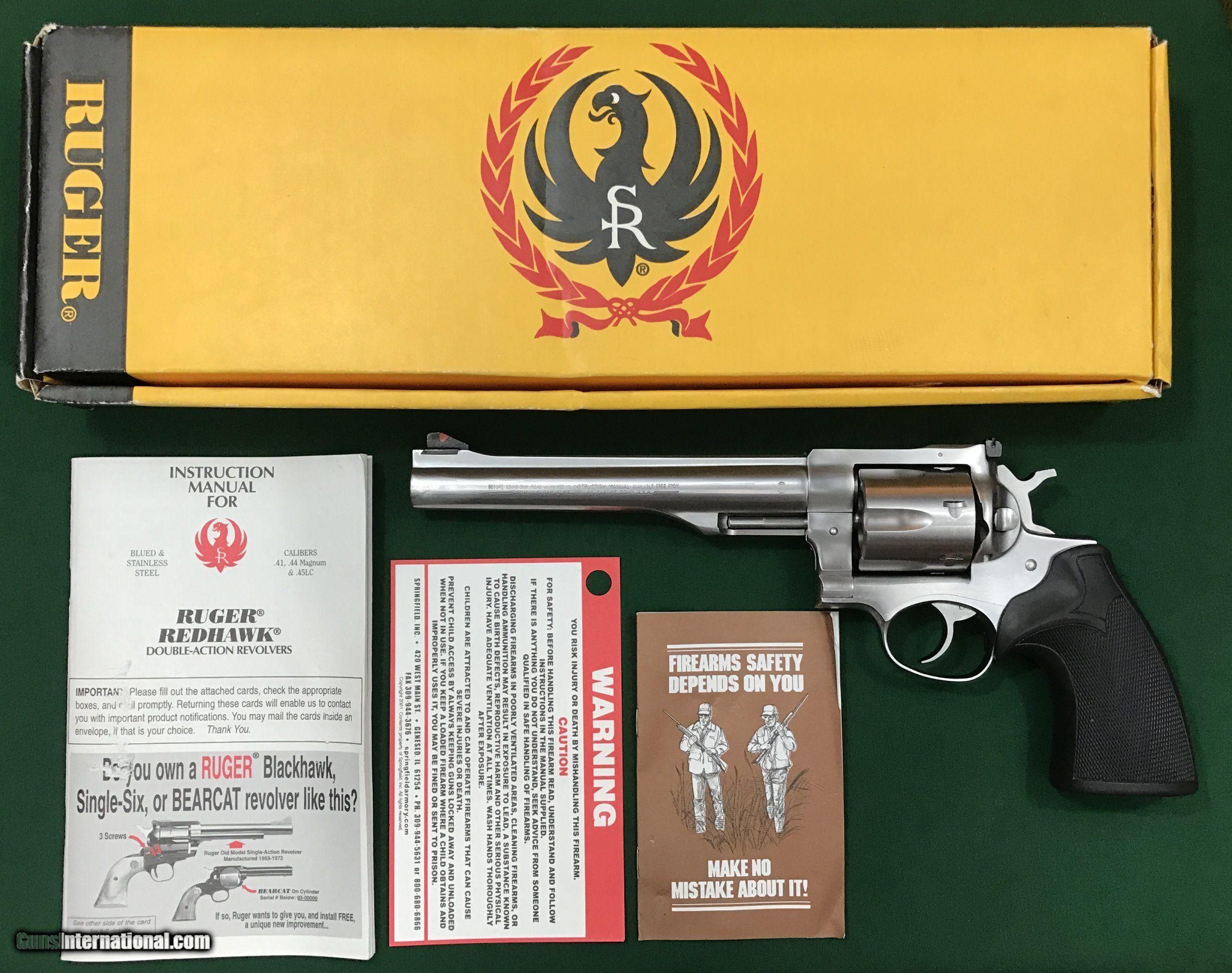 Ruger Redhawk,  44 Magnum, Stainless-Steel, Single-Action