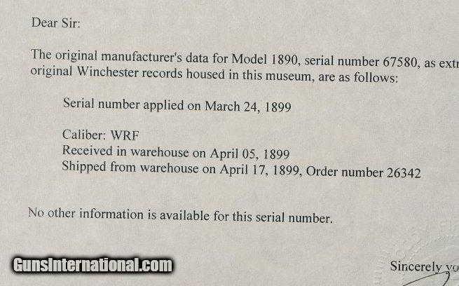 winchester manufacture date