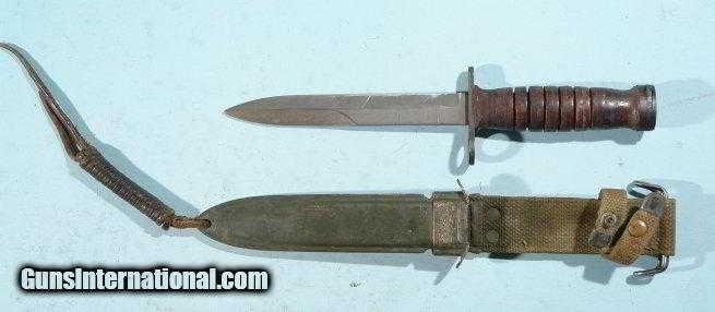 ww2 or wwii early utica u s m4 or m 4 leather washer bayonet