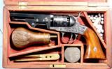 RARE NEAR MINT CASED FACTORY ENGRAVED LONDON PISTOL COMPANY SERIES II PERCUSSION .31 CAL. POCKET REVOLVER CA. 1860.