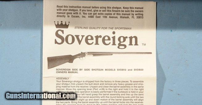 "3"" shotgun ca italian fausti for beretta sovereign side by side 20 ga"
