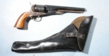 NAVY ARMS CO. REPRODUCTION COLT MODEL 1861 PERCUSSION .36 CAL. NAVY REVOLVER CA. 1960'S-70'S W/HOLSTER.