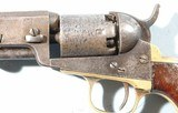 CIVIL WAR CONNECTICUT 23RD VOLS. INSCRIBED COLT 1849 POCKET REVOLVER. - 6 of 11