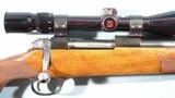 HERTERS BSA (BIRMINGHAM SMALL ARMS) MODEL U-9 OR U9 BOLT ACTION .222 REM. MAG. SPORTING RIFLE W/HERTER'S 3X9 SCOPE.