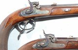 CASED PAIR OF JOHAN NOVOTNY OF PRAGUE PERCUSSION DUELLING/TARGET PISTOLS CA. 1860'S-70'S. - 5 of 14