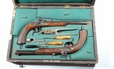 CASED PAIR OF JOHAN NOVOTNY OF PRAGUE PERCUSSION DUELLING/TARGET PISTOLS CA. 1860'S-70'S. - 2 of 14