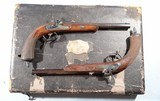 CASED PAIR OF JOHAN NOVOTNY OF PRAGUE PERCUSSION DUELLING/TARGET PISTOLS CA. 1860'S-70'S. - 1 of 14