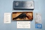 """IN ORIG. BOX SMITH & WESSON MODEL 10-7 (MILITARY & POLICE) M&P.38SPL BLUE 4"""" REVOLVER, CIRCA 1979."""