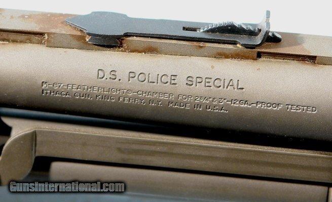 ITHACA DEERSLAYER DSPS D S  POLICE MODEL 37 12GA  PARKERIZED