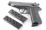GERMAN WALTHER MODEL MODELL PP 7.65 (.32ACP) BLUE SEMI-AUTO PISTOL WITH THREE MAGS.