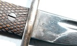 SPANISH MAUSER MODEL 1941 BOLO BAYONET AND SCABBARD. - 3 of 5