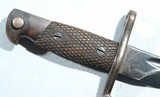 SPANISH MAUSER MODEL 1941 BOLO BAYONET AND SCABBARD. - 2 of 5