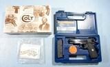NEW IN BOX COLT LIGHTWEIGHT COMMANDER MODEL 1911A1 .45ACP BLUE PISTOL, CIRCA 1993.