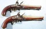 superior pair george iii flintlock brass barrel militia officer s pistols by geo. e. jones of london ca. 1800 10.