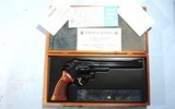 """CASED LIKE NEW SMITH & WESSON MODEL 27-2 OR 27 .357MAG 8 3/8"""" BLUE REVOLVER, CIRCA 1980."""