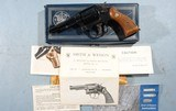 """BOXED SMITH & WESSON MILITARY & POLICE MODEL 10-7 OR MODEL 10 .38 SPECIAL 4"""" PINNED BARREL BLUE D.A. REVOLVER, CIRCA 1979."""