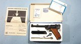 "UNFIRED MAUSER / INTERARMS 9MM LUGER 6"" PISTOL W/BOX & PAPERS."