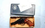 "1974 SMITH & WESSON MODEL 19 COMBAT MAGNUM OR 19-3 .357 MAGNUM 4"" BLUE REVOLVER IN ORG. BOX."